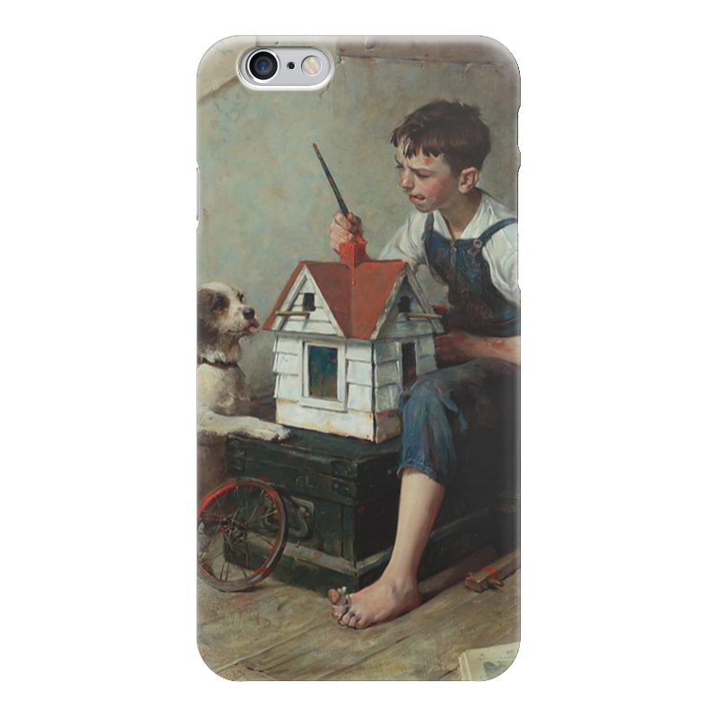 Чехол для iPhone 6 глянцевый Printio Painting the little house