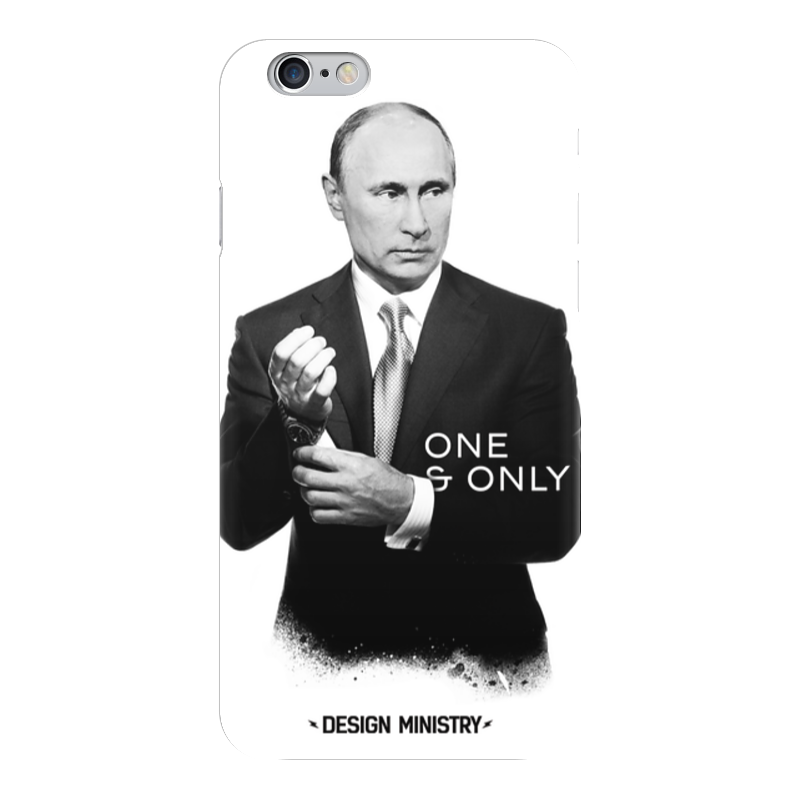 Чехол для iPhone 6 глянцевый Printio One & only by design ministry пу only by