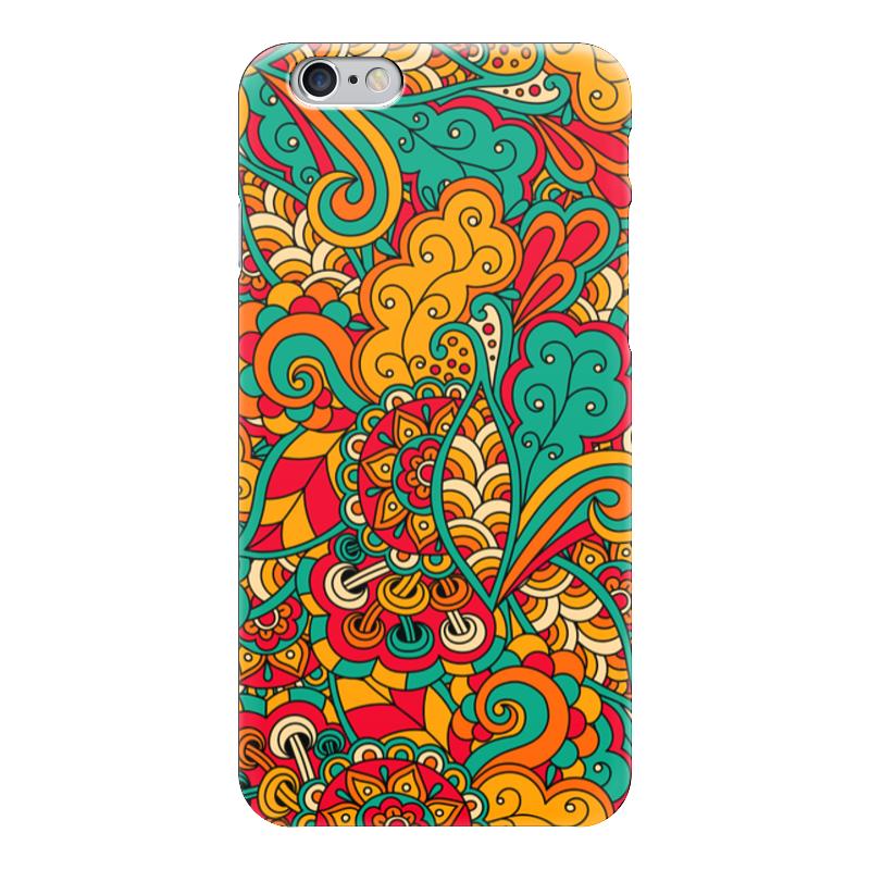 Чехол для iPhone 6 глянцевый Printio Цветочный орнамент чехол для iphone 6 глянцевый printio цветочный