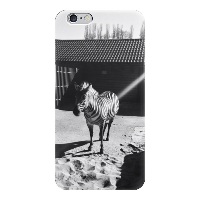 Чехол для iPhone 6 глянцевый Printio Зебра