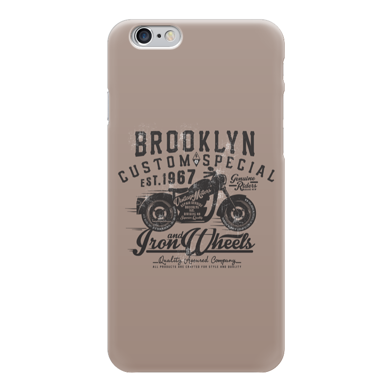 Чехол для iPhone 6 глянцевый Printio Brooklyn bike лонгслив printio brooklyn bike