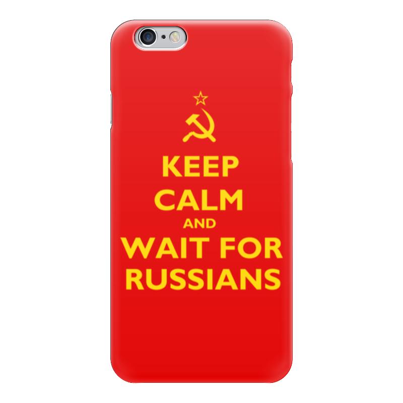 Чехол для iPhone 6 глянцевый Printio Keep calm and wait футболка wearcraft premium printio keep calm