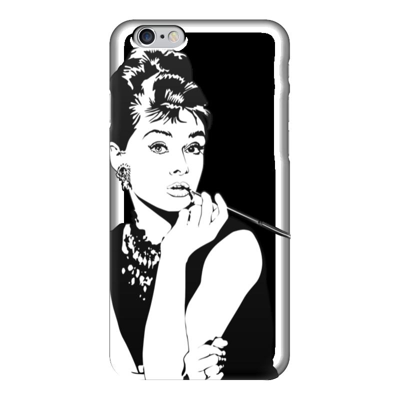 Чехол для iPhone 6 глянцевый Printio Одри хепберн женская сумка планшет с принтом черная коллекция elole design одри хепберн нат кожа