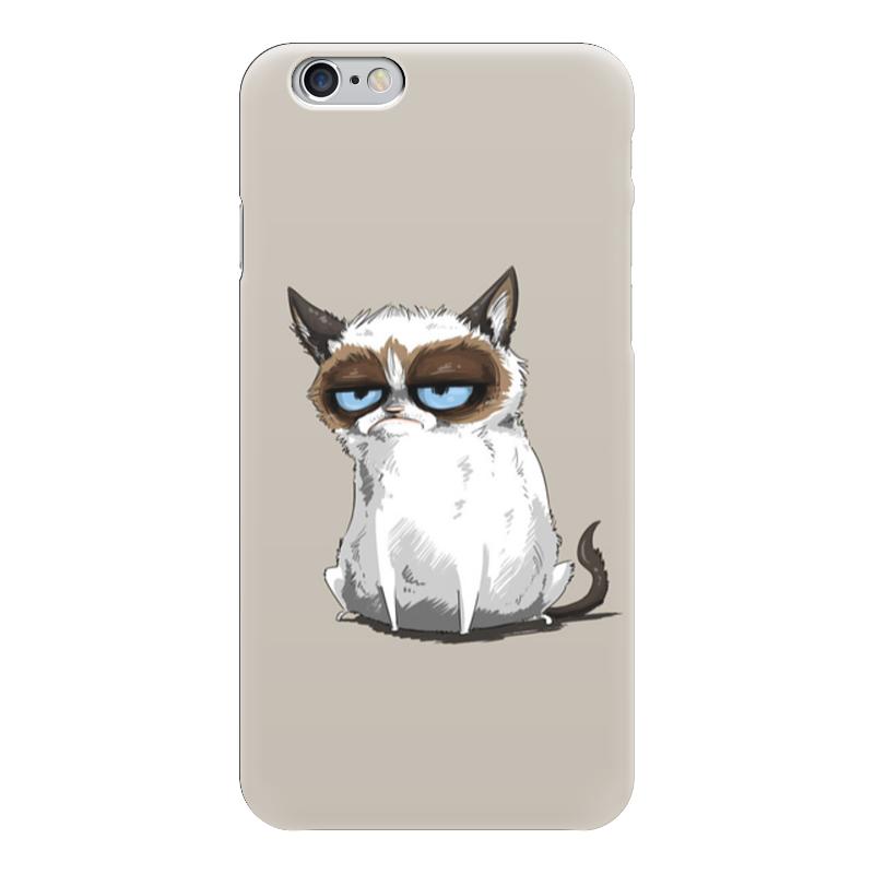 Чехол для iPhone 6 глянцевый Printio Grumpy cat (сердитый котик) grumpy gardener