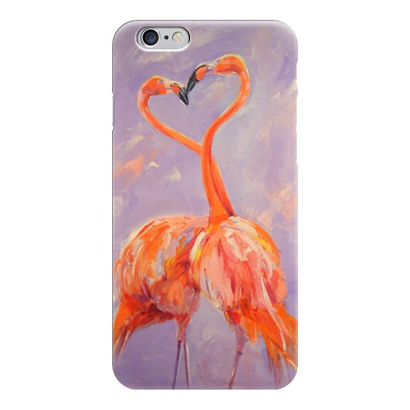 Чехол для iPhone 6 глянцевый Printio Любовь цвета фламинго чехол для карточек фламинго и ананас с усами дк2017 101