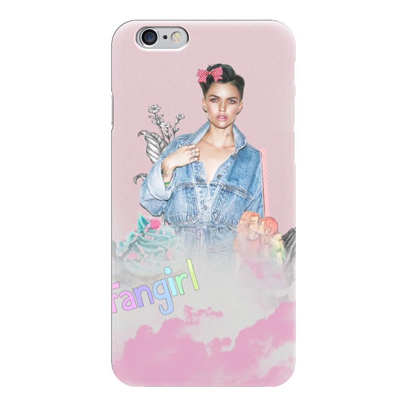 Чехол для iPhone 6 глянцевый Printio Ruby rose fan girl