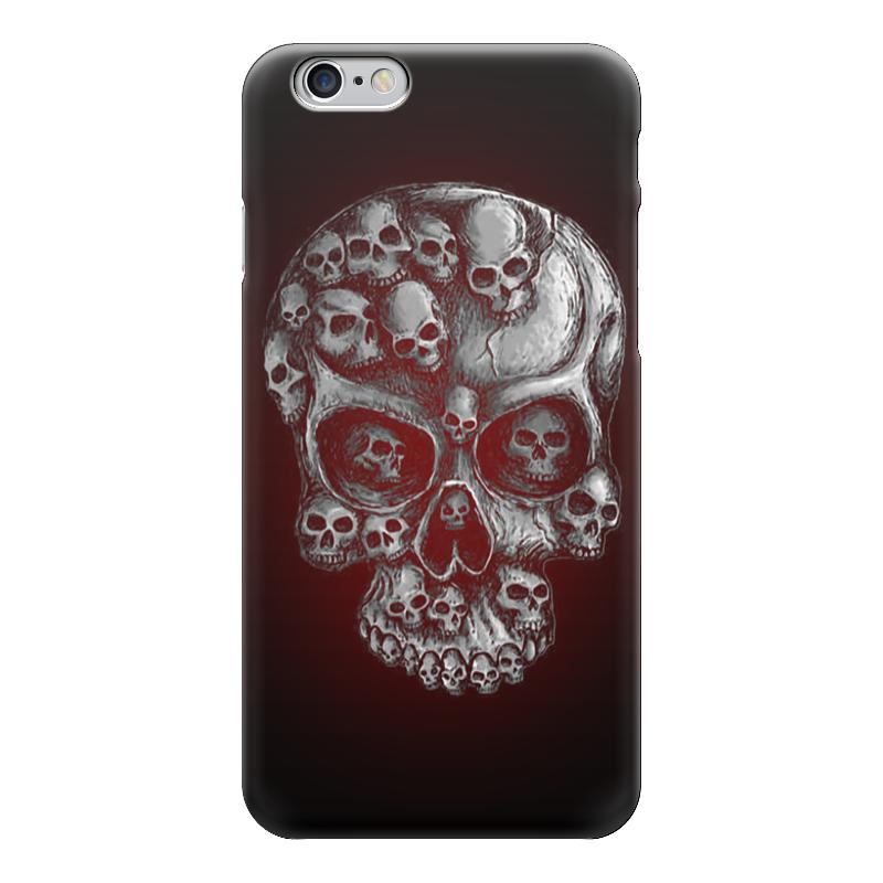 Чехол для iPhone 6 глянцевый Printio Skull art чехол для iphone 6 глянцевый printio сад на улице корто сад на монмартре ренуар