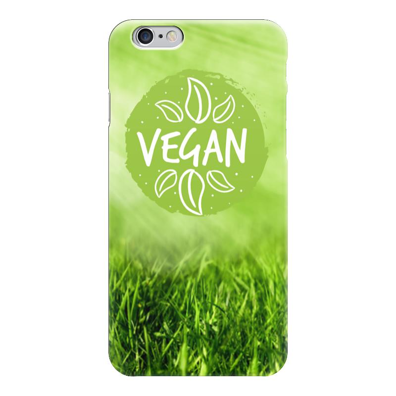 Чехол для iPhone 6 глянцевый Printio Go vegan! стоимость