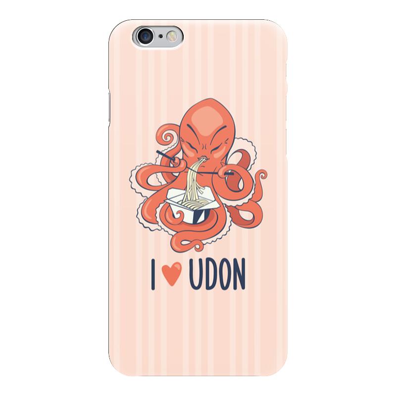 Чехол для iPhone 6 глянцевый Printio I love udon чехол для iphone 5 глянцевый с полной запечаткой printio i love kill