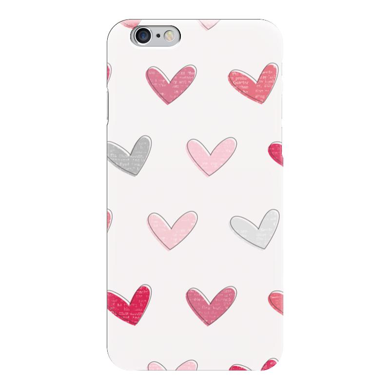 Чехол для iPhone 6 глянцевый Printio Разноцветные сердечки чехол для iphone 5 глянцевый с полной запечаткой printio винтаж