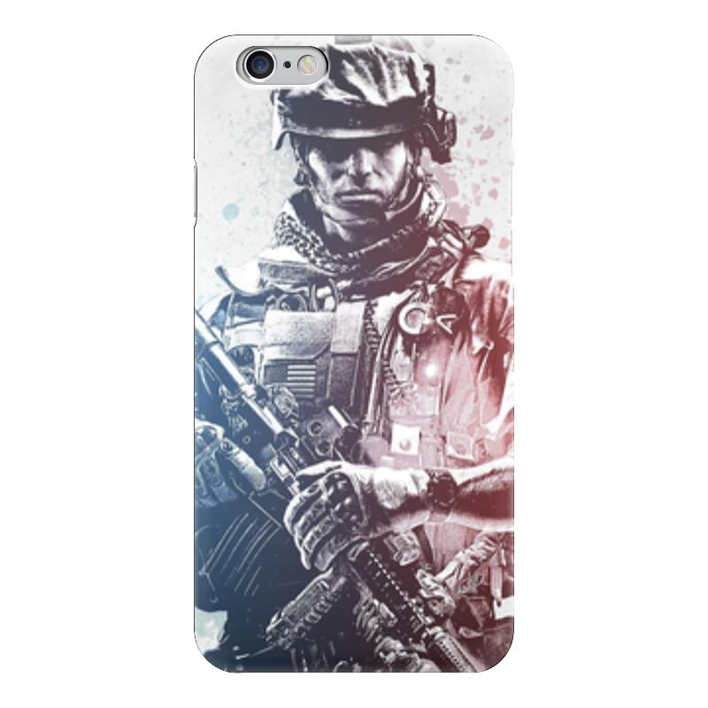Чехол для iPhone 6 глянцевый Printio Солдат (battlefield) форма для солдат срочников