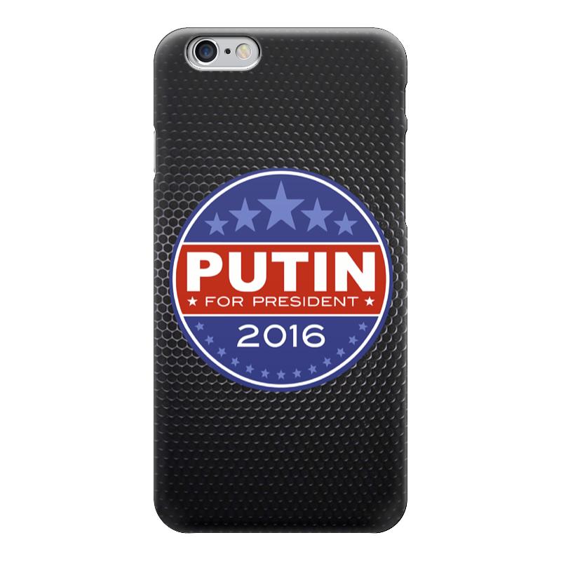 Чехол для iPhone 6 глянцевый Printio Путина в президенты америки (2016) монета номиналом 1 доллар президенты эндрю джонсон сша 2011 год