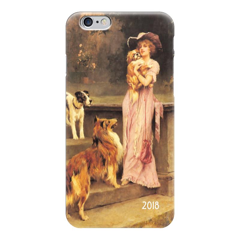 Чехол для iPhone 6 глянцевый Printio 2018 год собаки чехол для iphone 6 глянцевый printio зимняя прогулка