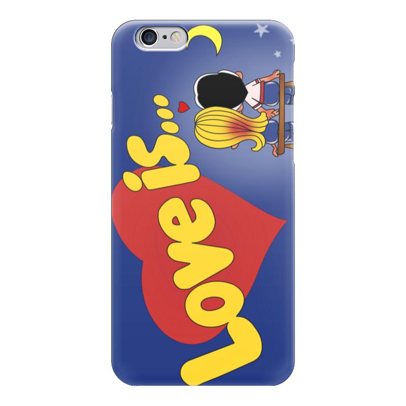 Чехол для iPhone 6 глянцевый Printio Love is... чехлы для телефонов with love moscow силиконовый дизайнерский чехол для meizu m3s перья