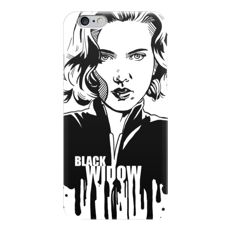 Чехол для iPhone 6 глянцевый Printio Черная вдова