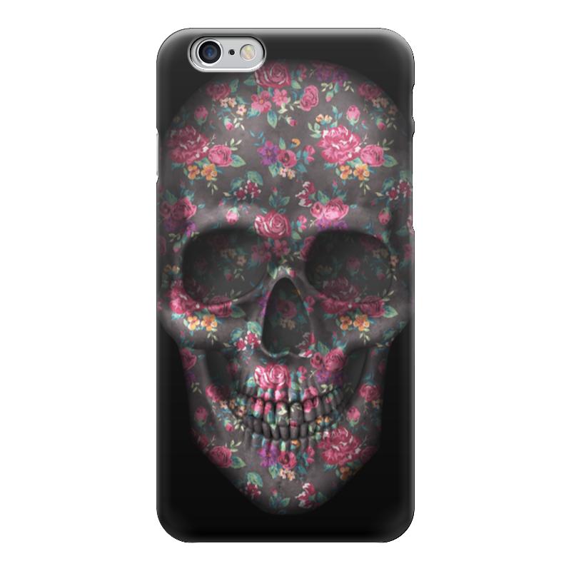 Чехол для iPhone 6 глянцевый Printio Череп чехол для iphone 6 глянцевый printio цветочный
