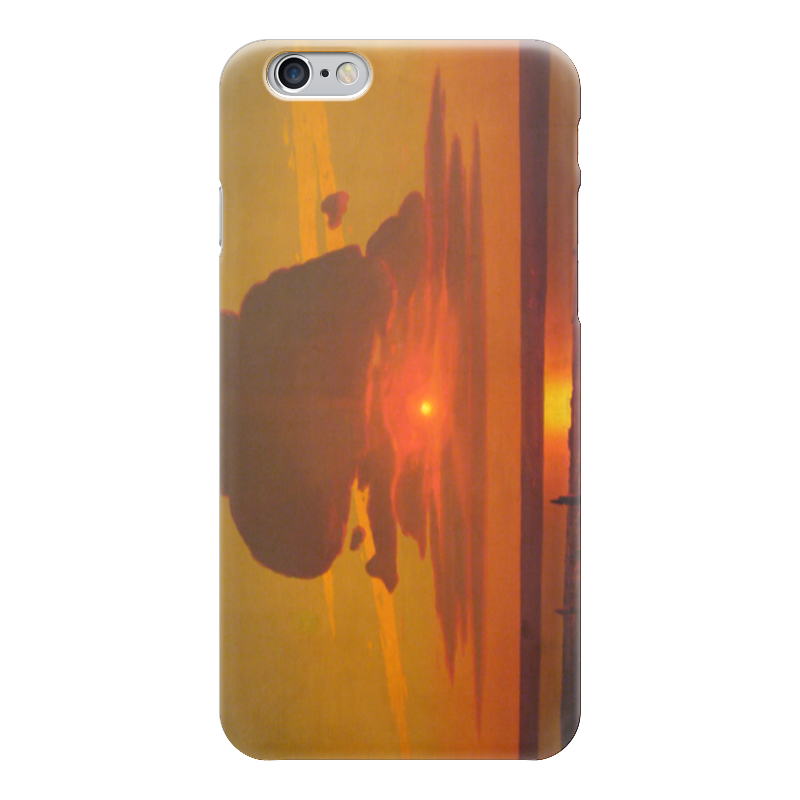 Чехол для iPhone 6 глянцевый Printio Красный закат (картина архипа куинджи) чехол для blackberry z10 printio север картина архипа куинджи