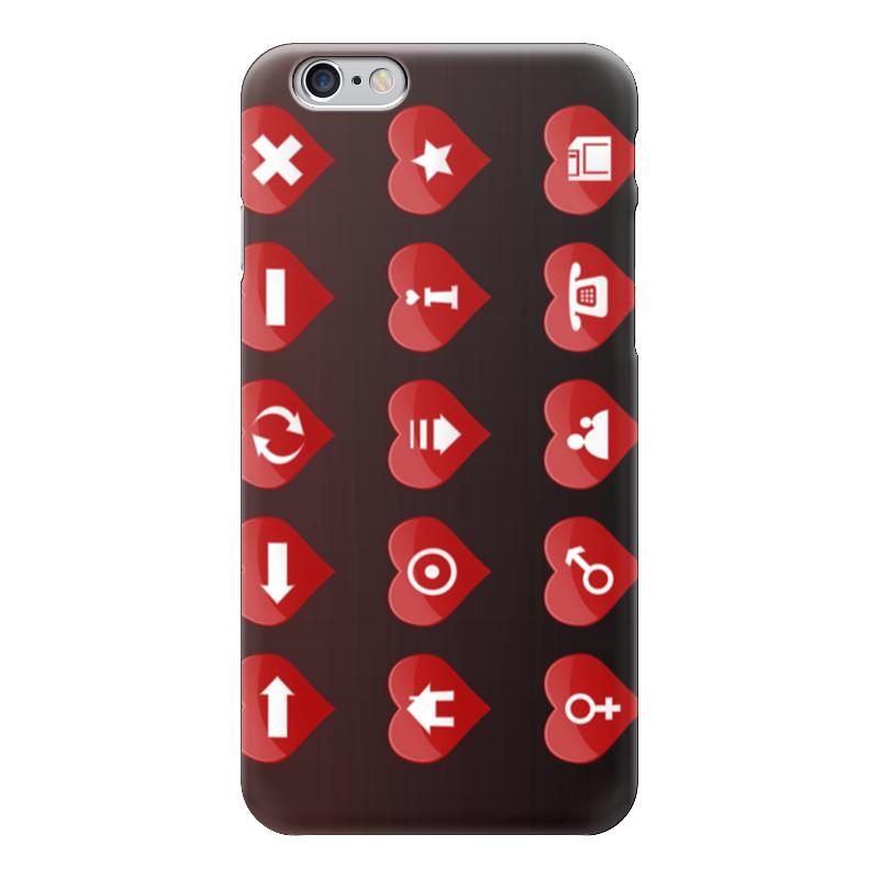 Чехол для iPhone 6 глянцевый Printio Сердечки-иконки чехол для iphone 6 глянцевый printio розовые сердечки