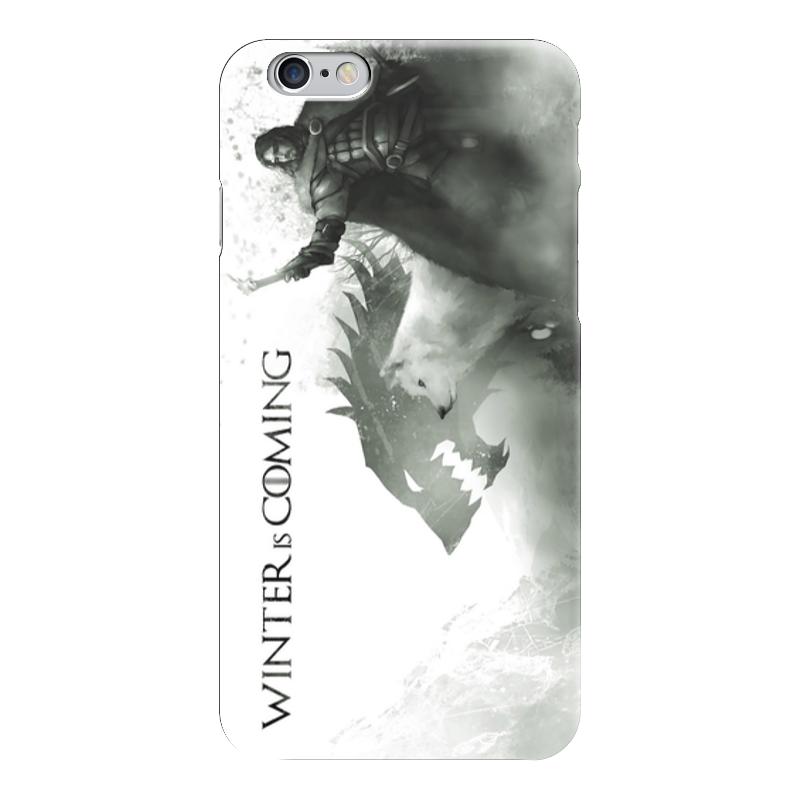 Чехол для iPhone 6 глянцевый Printio Winter is coming (game of thrones) рубашка поло stanley performs printio winter is coming