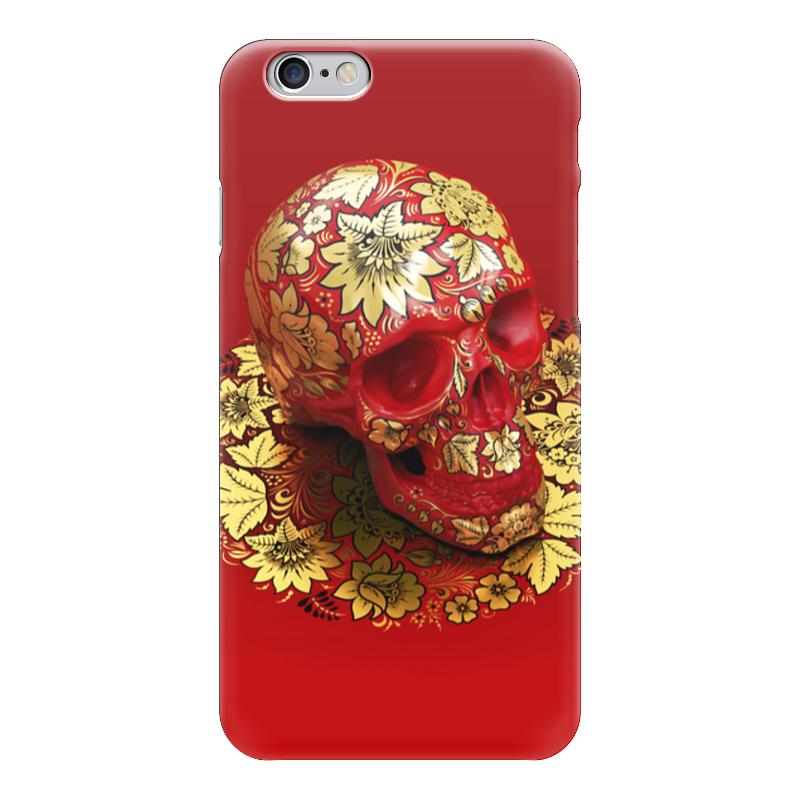 Чехол для iPhone 6 глянцевый Printio Череп (хохлома) хохлома в промыслах нижнегно новгорода