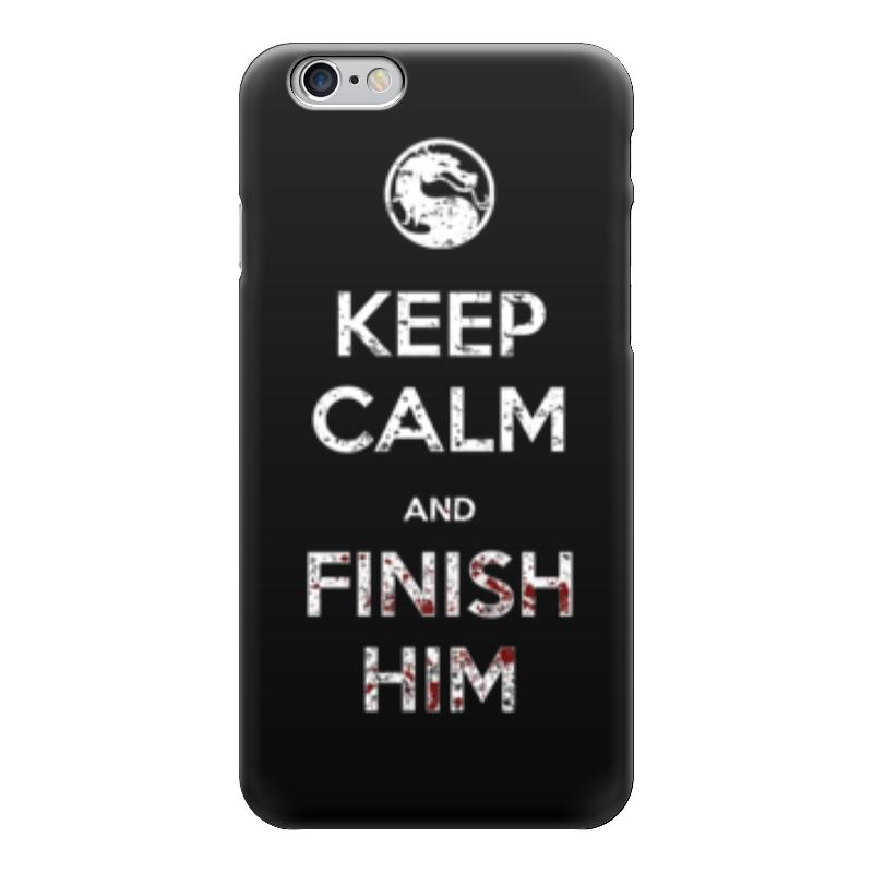 Чехол для iPhone 6 глянцевый Printio Keep calm and finish him футболка wearcraft premium printio keep calm