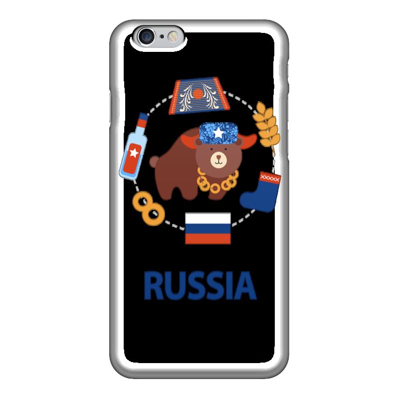 Чехол для iPhone 6 глянцевый Printio Россия (russia) чехол для iphone 6 глянцевый printio флаг россии russia