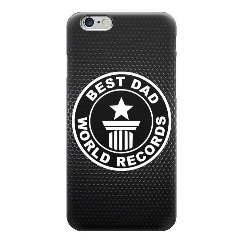 Чехол для iPhone 6 глянцевый Printio Best dad (лучший папа) пуховик свободный cherry dad