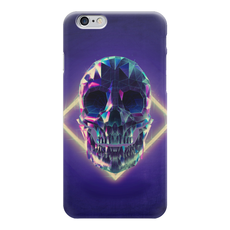 Чехол для iPhone 6 глянцевый Printio Low poly skull тетрадь на пружине printio low poly skull