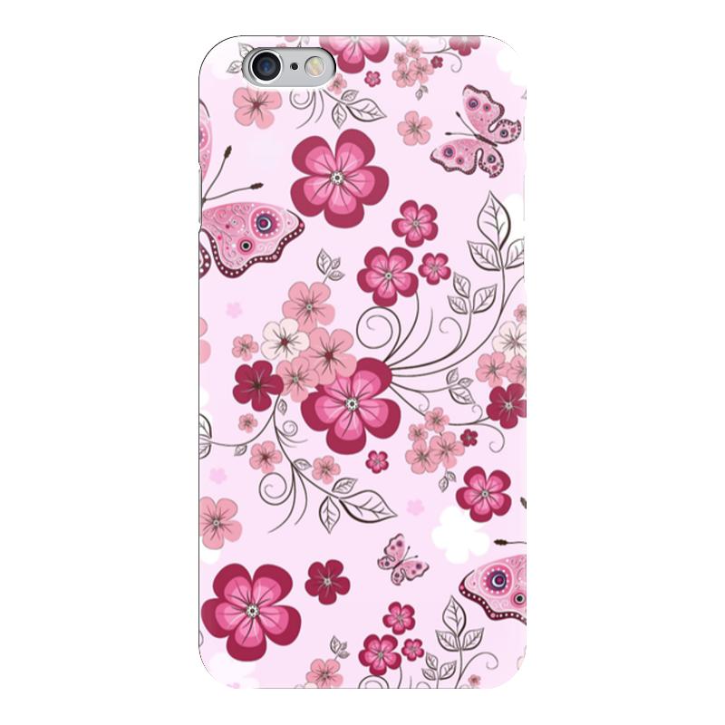Чехол для iPhone 6 глянцевый Printio Бабочки композиция цветочная 19 см русские подарки композиция цветочная 19 см