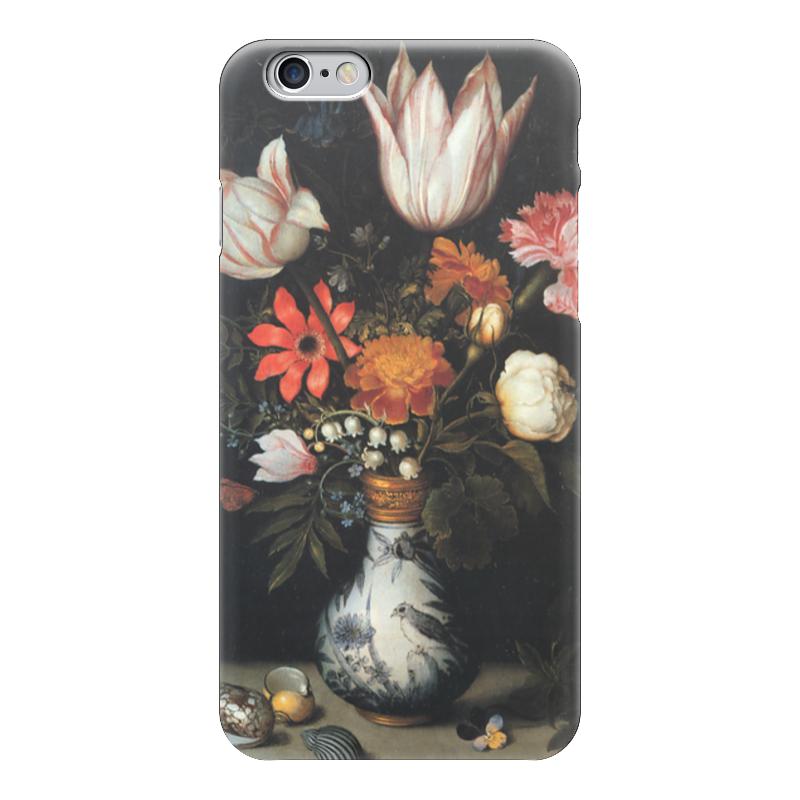 где купить Чехол для iPhone 6 глянцевый Printio Тюльпаны, розы и другие цветы в вазе (босхарт) по лучшей цене