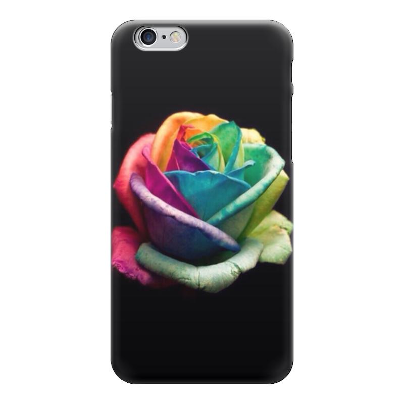 Чехол для iPhone 6 глянцевый Printio Цветная роза пламенная роза тюдоров