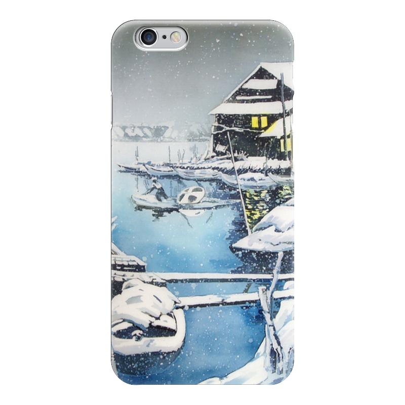 Чехол для iPhone 6 глянцевый Printio Зима в японии. музыка цунами в японии