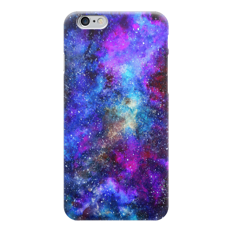 Чехол для iPhone 6 глянцевый Printio Космос (пурпурно-синий) чехол