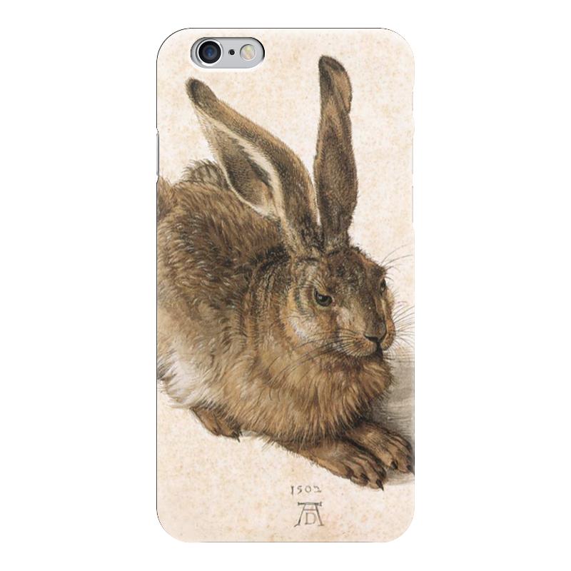 Чехол для iPhone 6 глянцевый Printio Заяц (альбрехт дюрер) кошелек мудрый заяц