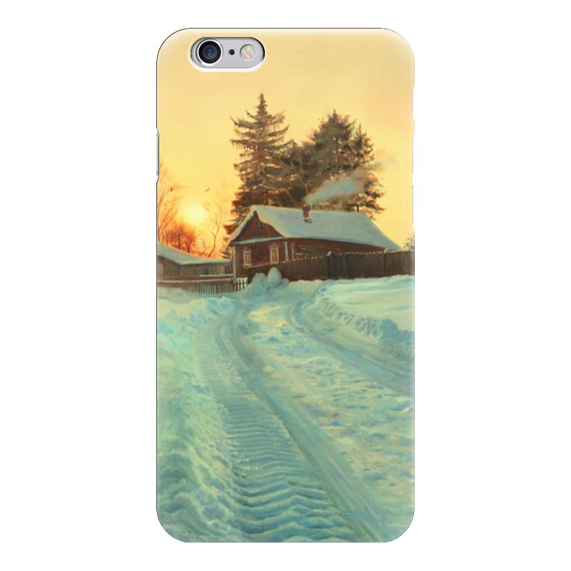 Чехол для iPhone 6 глянцевый Printio Деревенский домик