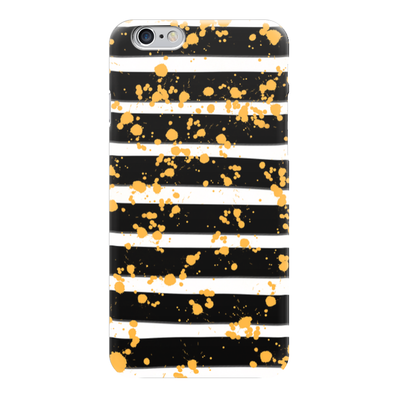 Чехол для iPhone 6 глянцевый Printio Желтые брызги