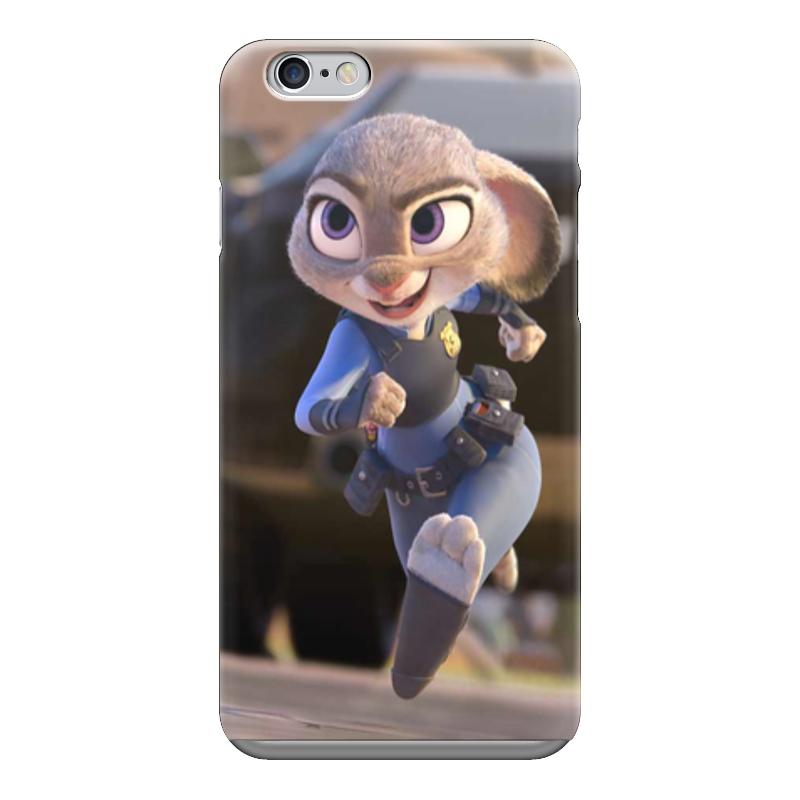 Чехол для iPhone 6 глянцевый Printio Зверополис заяц кошелек мудрый заяц