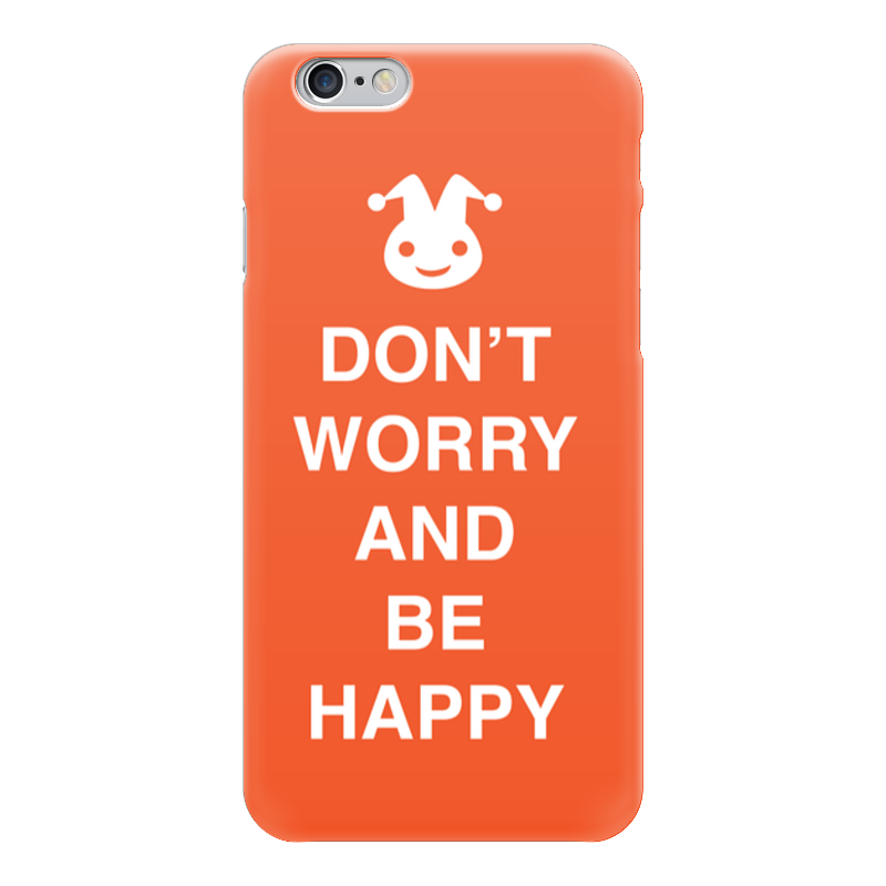 Чехол для iPhone 6 глянцевый Printio Don't worry and be happy чехол для iphone 6 глянцевый printio how to be happy