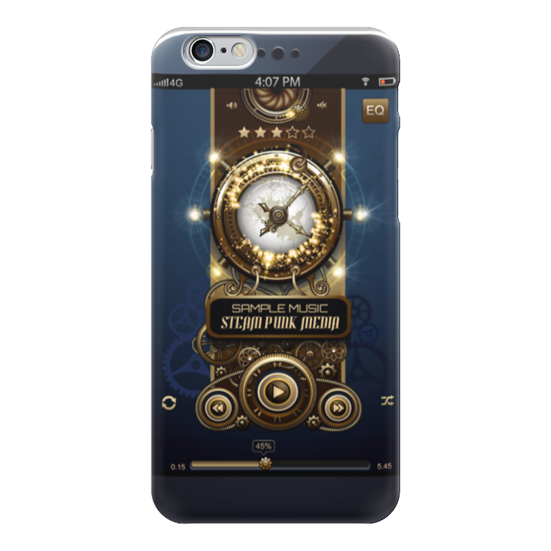 Чехол для iPhone 6 глянцевый Printio Стимпанк-музыка ii