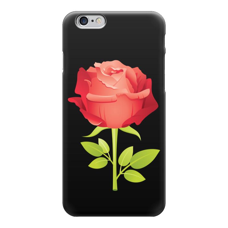 Чехол для iPhone 6 глянцевый Printio Розочка чехол для iphone 5 с подставкой с полной запечаткой printio розочка