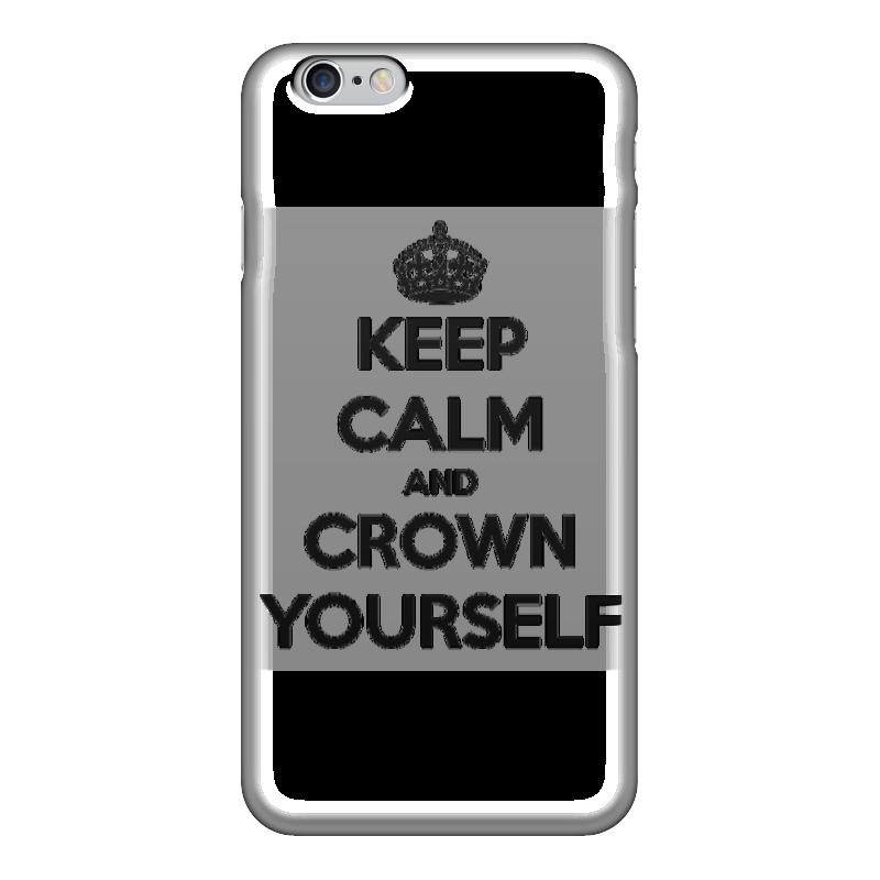 Чехол для iPhone 6 глянцевый Printio Keep calm and crown yourself чехол для iphone 7 глянцевый printio keep calm and play rock