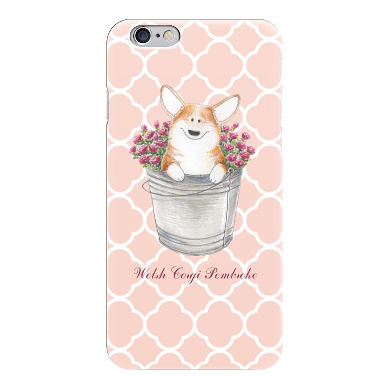 Чехол для iPhone 6 глянцевый Printio Корги и розы лонгслив printio корги и розы