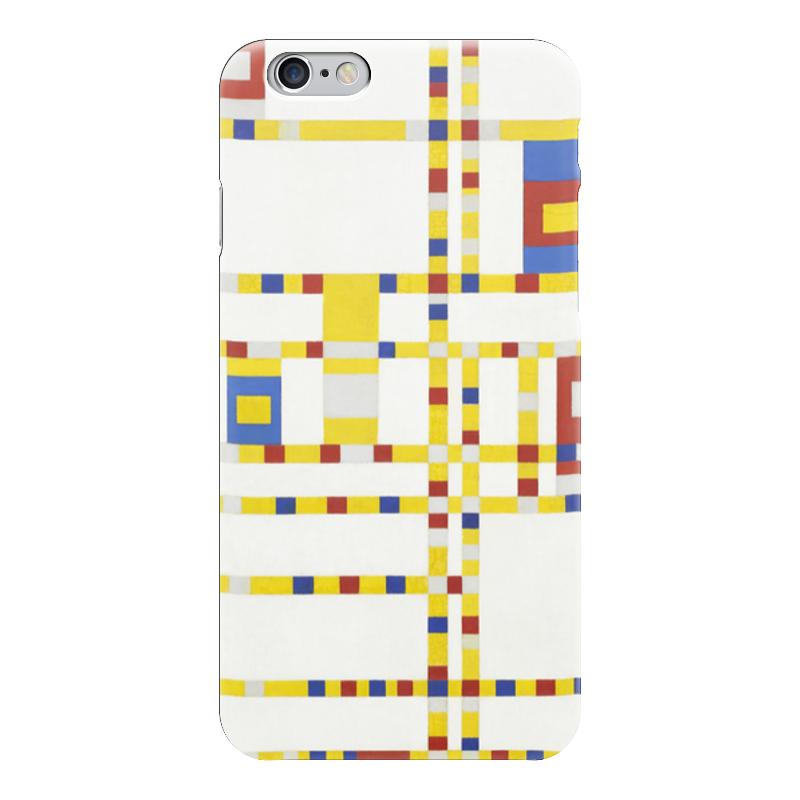 Чехол для iPhone 6 глянцевый Printio Бродвей буги-вуги (питер мондриан) чехол для samsung galaxy s5 printio бродвей буги вуги питер мондриан