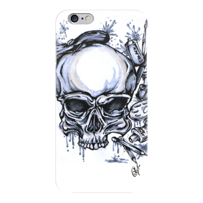 Чехол для iPhone 6 глянцевый Printio Череп художник чехол для iphone 5 глянцевый с полной запечаткой printio череп художник