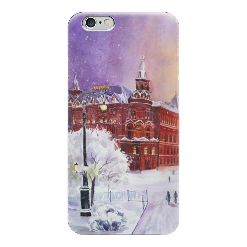 Чехол для iPhone 6 глянцевый Printio Новогодняя москва литературная москва 100 лет назад