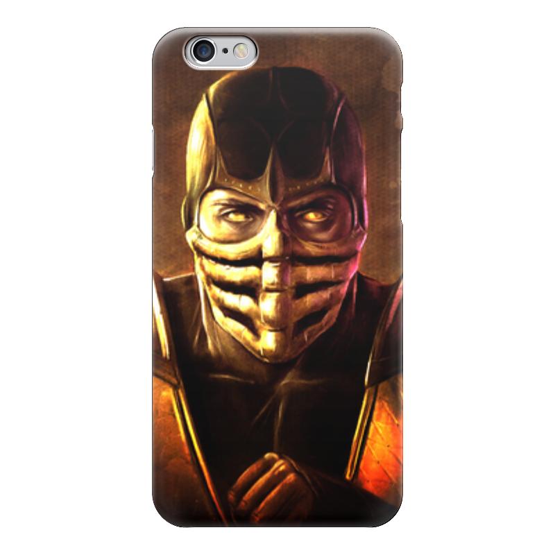 Чехол для iPhone 6 глянцевый Printio Скорпион (мортал комбат)