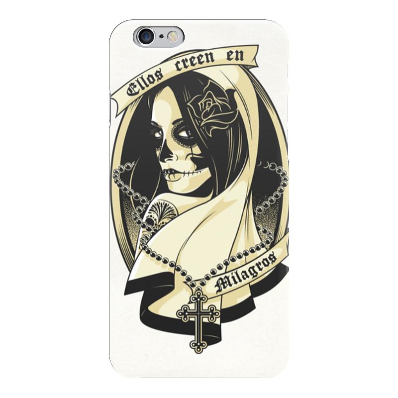 Чехол для iPhone 6 глянцевый Printio Santa muerte santa claus