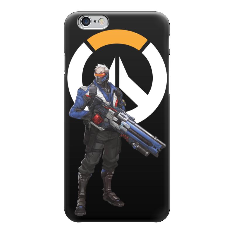 Чехол для iPhone 6 глянцевый Printio Overwatch soldier 76 / овервотч солдат 76