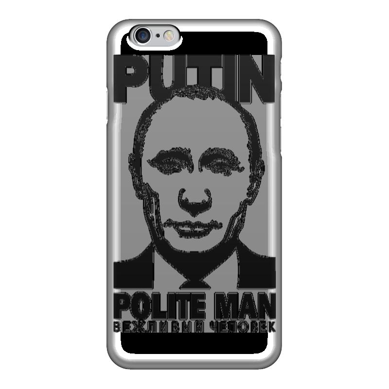 Чехол для iPhone 6 глянцевый Printio Putin polite man чехол