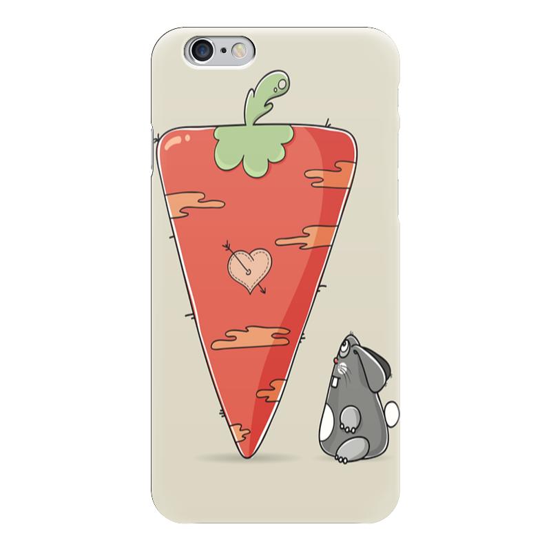 Чехол для iPhone 6 глянцевый Printio Любовь - морковь) любовь морковь